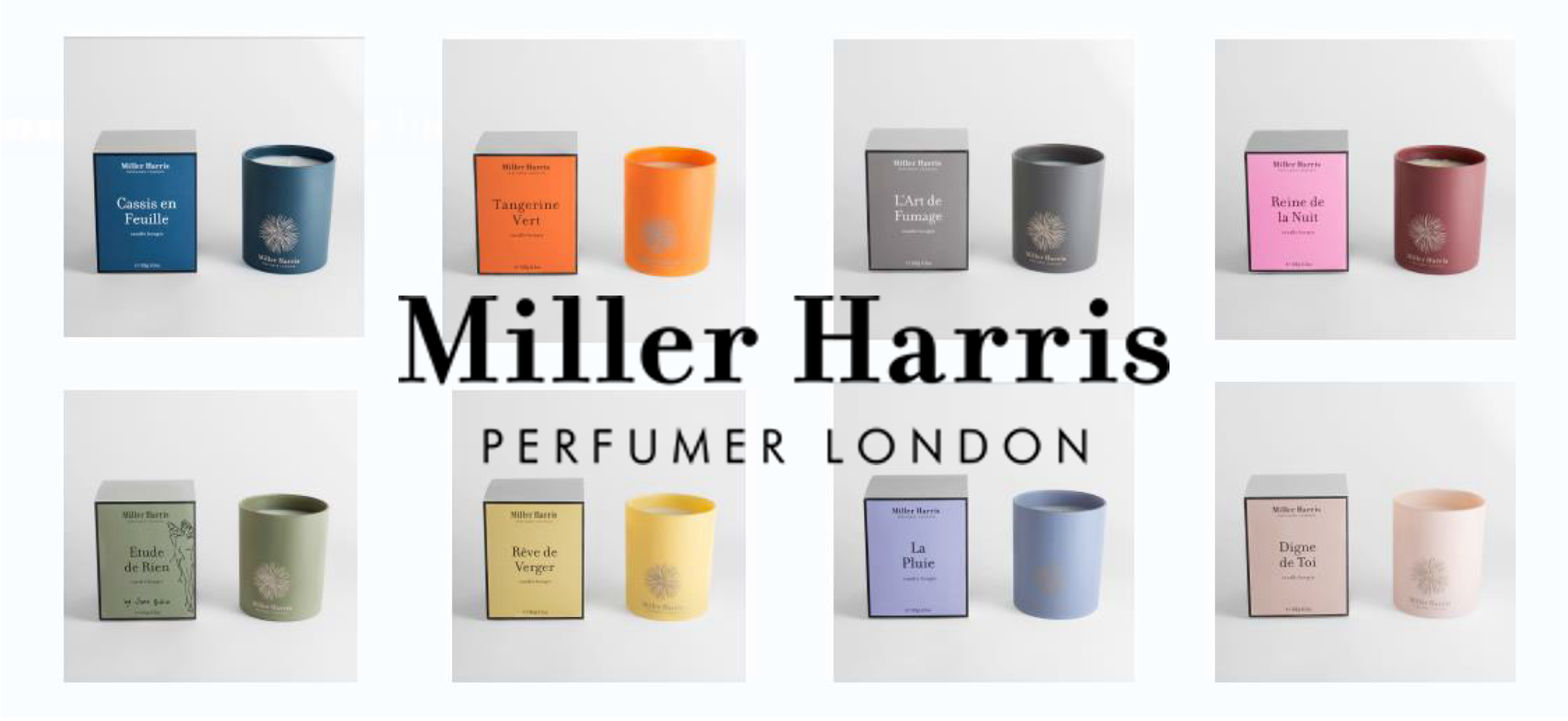 Miller Harris 2017 NEW CANDLE COLLECTION